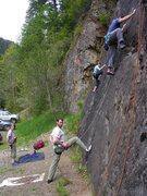 Rock Climbing Photo: Salmon Slab in its entireity.