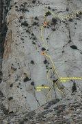Rock Climbing Photo: 'Wanted Man' topo