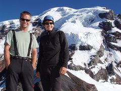 Rock Climbing Photo: With Joel on our Ptarmigan Ridge attempt. July, 20...