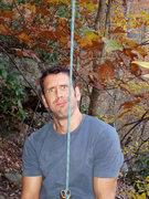 Rock Climbing Photo: Pat P. belaying at the New. October, 2006.