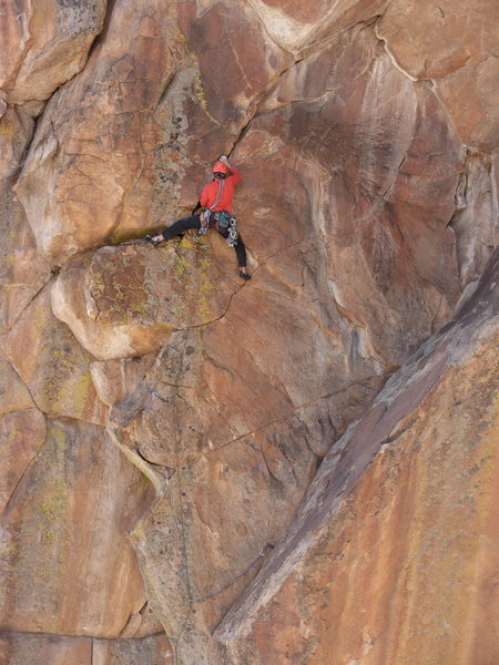 Rock Climbing Photo: Middle section- getting full attention from Christ...