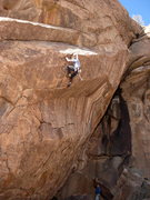 Rock Climbing Photo: The last hard moves of SCORPION are the stinger. B...