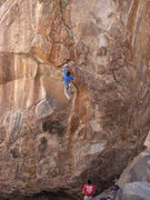 Rock Climbing Photo: End of the long crux.