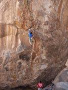 Rock Climbing Photo: End of the long crux.