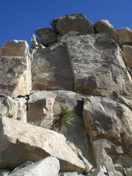 Rock Climbing Photo: The dihedral in the center of the pic is key's cra...
