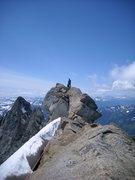 Rock Climbing Photo: Summit Block of Dome Peak (N. Cascades)