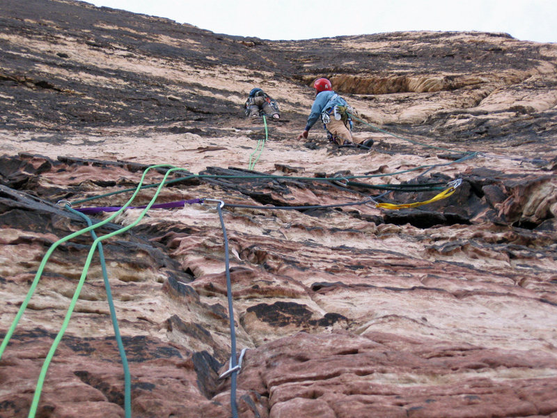 Rock Climbing Photo: Leading pitch 4 of Birdland, waiting for a party t...