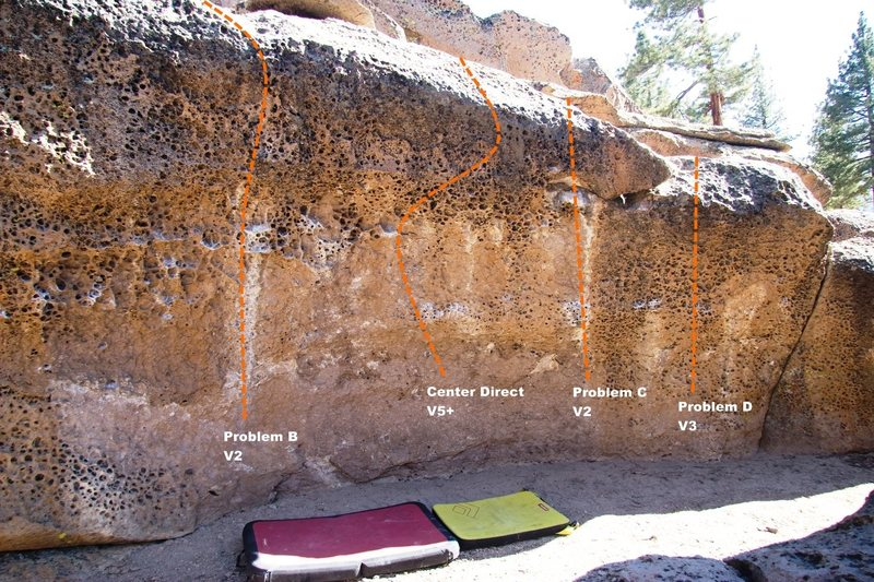 Rock Climbing Photo: The Alcove Center Topo