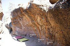 Rock Climbing Photo: The Alcove Right Topo