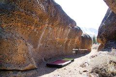 Rock Climbing Photo: The Alcove Girdle Traverse Topo