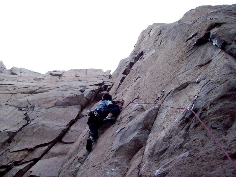 Rock Climbing Photo: BH on Misty, 5.11d.