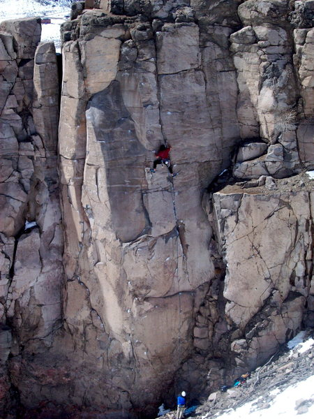 Rock Climbing Photo: BH on FA of Sweet 5.11a trad.