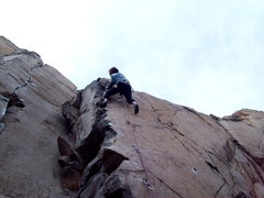 Rock Climbing Photo: BH on FA of The Gig, 5.10b.