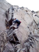 Rock Climbing Photo: Alex on 2nd lead of The Gig.