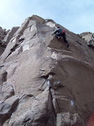Rock Climbing Photo: Alex on 2nd lead of Mountain Lion.