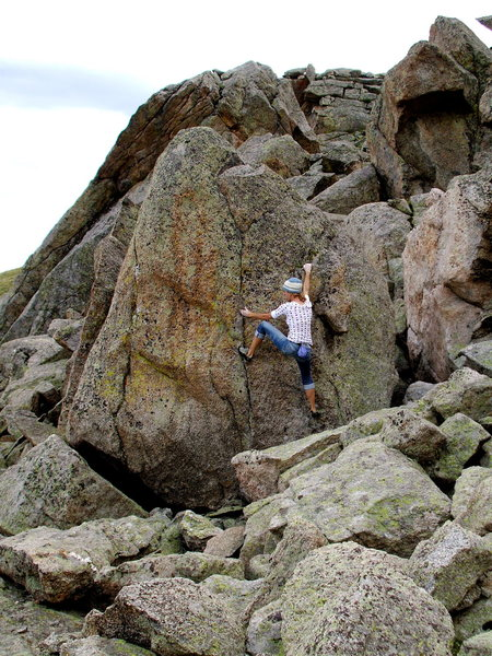 Rock Climbing Photo: Bouldering at Lincoln Lake, Mt. Evans