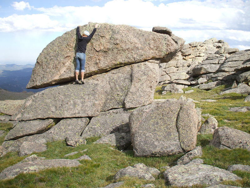 Bouldering along the Mt Evans Scenic Roadway.