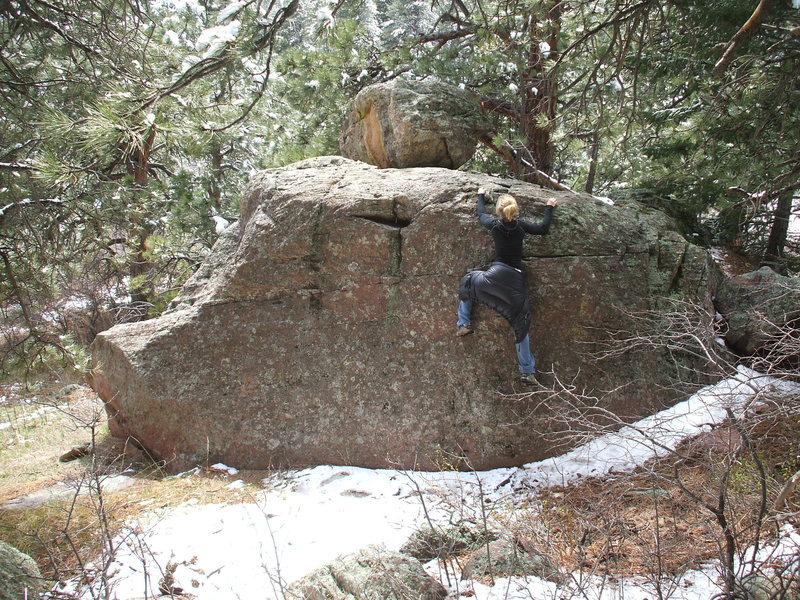 Bouldering trailside in the Flatirons