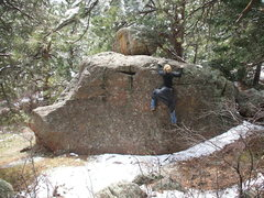 Rock Climbing Photo: Bouldering trailside in the Flatirons