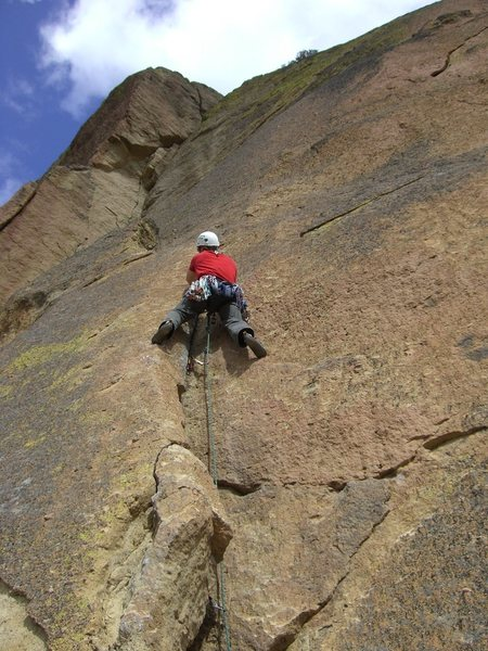 Rock Climbing Photo: Bottom Trad (or soloed) section.