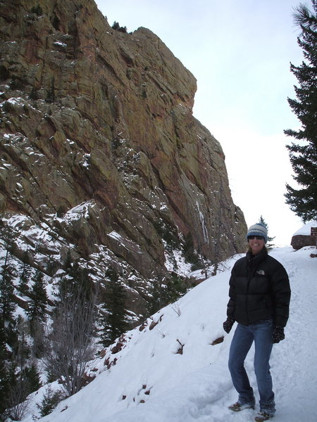 Rock Climbing Photo: Winter hike in Eldorado Canyon