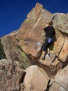 Rock Climbing Photo: Bouldering at Rotory Park, Horsetooth Reservoir