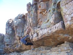 Rock Climbing Photo: Traverse training at Horsetooth Reservoir