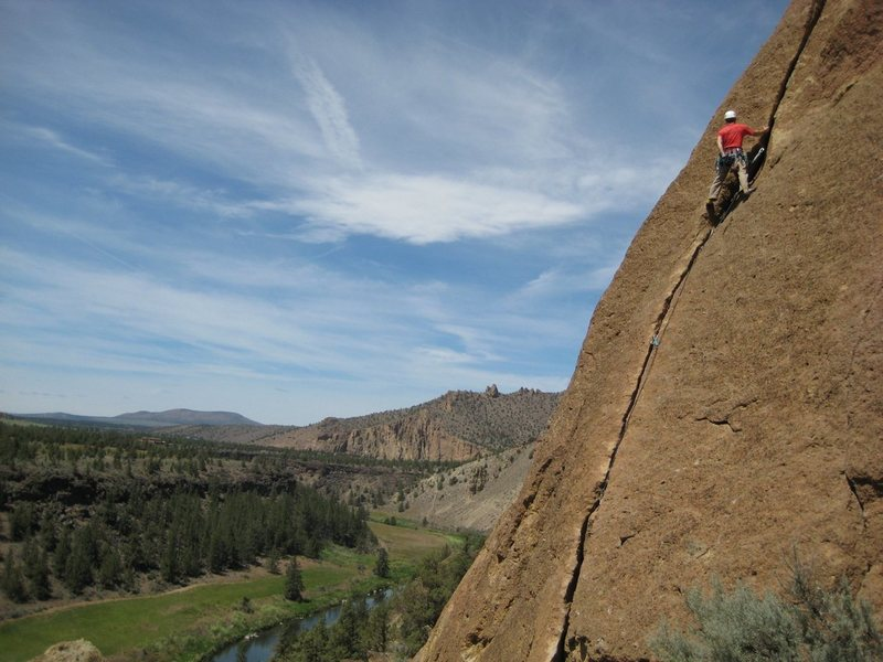 Rock Climbing Photo: 1st Pitch of Spiderman