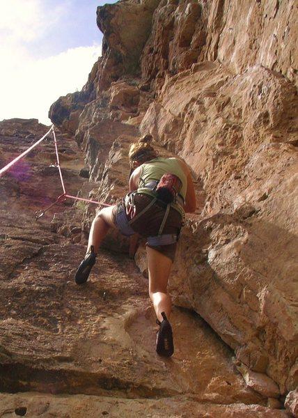 climbing @ jacks canyon, az