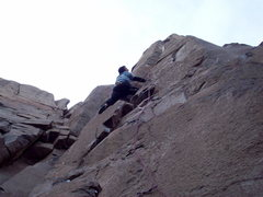 Rock Climbing Photo: Approaching the steep dihedral section on Misty 5....