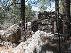 Rock Climbing Photo: View of the boulder standing on the path facing le...