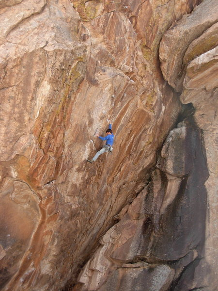 Steep and pumpy-huge holds- only one STOPPER move - a good combo overall.