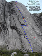 Rock Climbing Photo: Topo of Otro Dia Otro Largo.  Two notes.  1. the f...