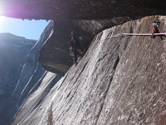 Rock Climbing Photo: horizontal to downward arching roof for 100'... no...