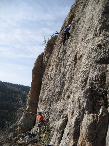 Typical Darby canyon climbing.