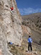 Rock Climbing Photo: Typical Darby canyon climbing.