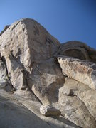 Rock Climbing Photo: Where Have All The Cowboys Gone climbs the steep, ...