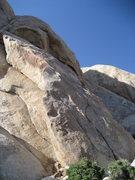 Rock Climbing Photo: First pitch of Santa Cruz starts in the thin crack...