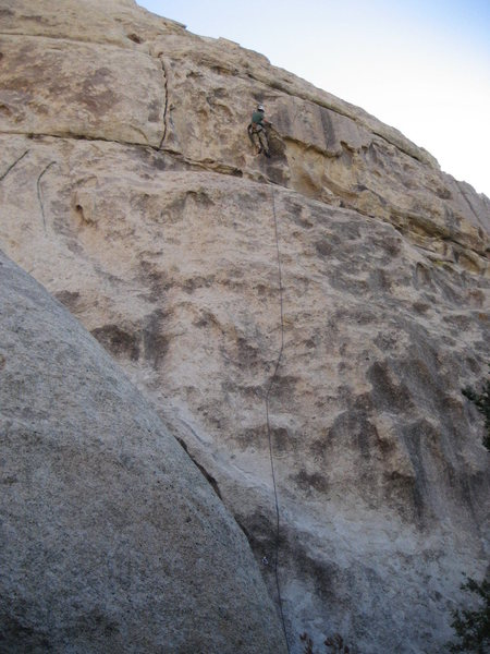 Rock Climbing Photo: Topping out on Rad Nad....