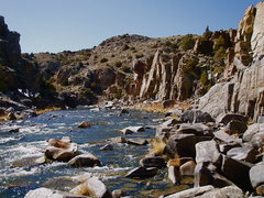 Rock Climbing Photo: The North Platte River and the Low Voltage Wall wi...