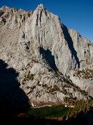 Rock Climbing Photo: Thor Peak and Mirror Lake.
