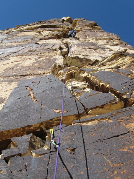 Rock Climbing Photo: The face above the large ledges at the top of Shae...
