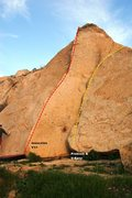 Rock Climbing Photo: Triangle Boulders Middle Topo