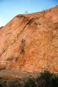 Rock Climbing Photo: Triangle Boulders Off Left Topo