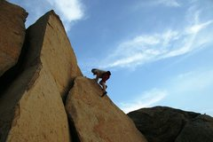 Rock Climbing Photo: At the top of the right Triangular slab