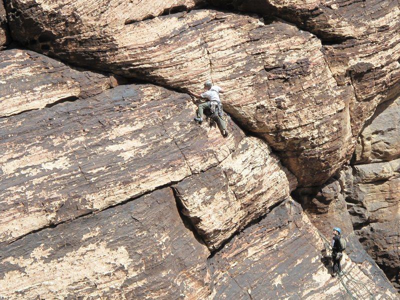 Rock Climbing Photo: Brett belayed by Anne. Smooth Operator, p2.