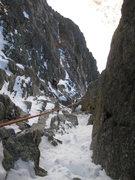 Rock Climbing Photo: Dougald following P1.