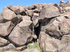 Rock Climbing Photo: Rock art in the Preserve