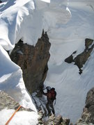 Rock Climbing Photo: Doogle on the top of P3, pulling the KB, under the...