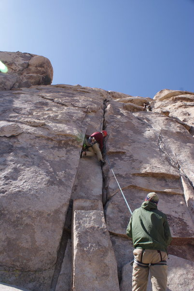 Rock Climbing Photo: The business is all at the beginning on White Ligh...